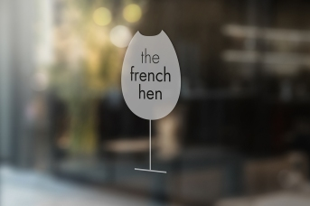 french hen_Window Signage